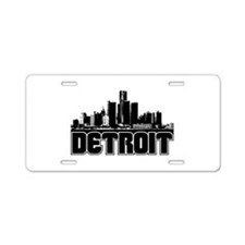 Detroit Skyline Aluminum License Plate