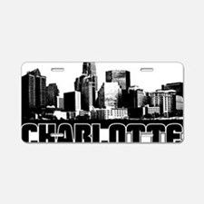 Charlotte Skyline Aluminum License Plate