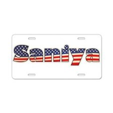 American Saniya Aluminum License Plate