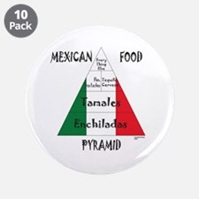 """Mexican Food Pyramid 3.5"""" Button (10 pack)"""