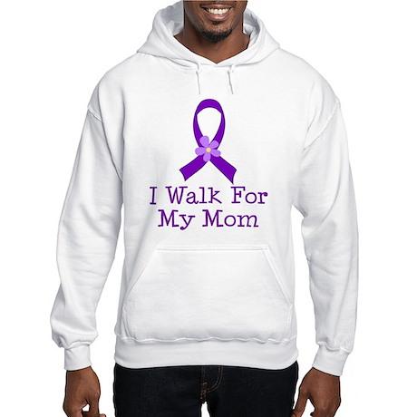 Alzheimer's Walk For Mom Hooded Sweatshirt
