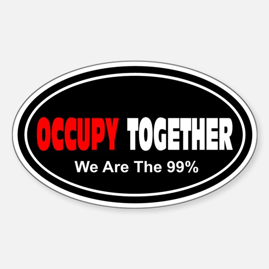 Occupy Together: Sticker (Oval)
