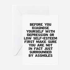 Surrounded by A-Holes Greeting Cards (Pk of 10)