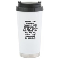 Surrounded by A-Holes Travel Mug