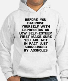 Surrounded by A-Holes Hoodie