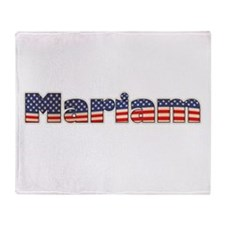 American Mariam Throw Blanket