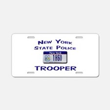 New York State Police Aluminum License Plate