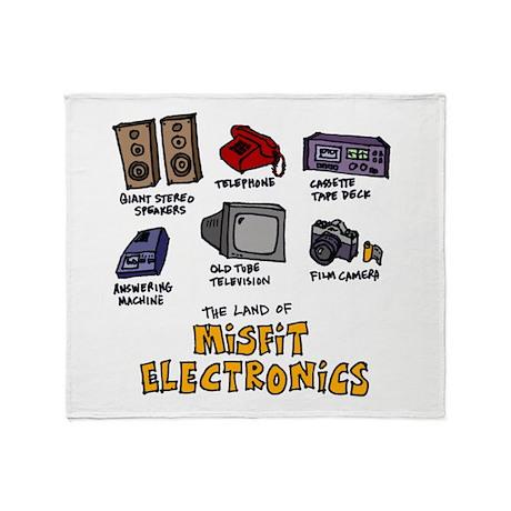 Misfit Electronics Throw Blanket