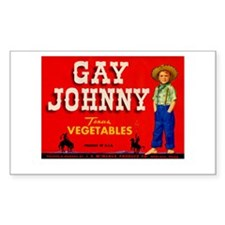 Vintage Gay Johnny Ad Decal