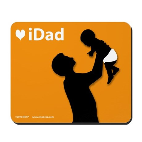 iDad Orange Father & Baby Mousepad