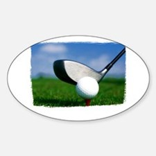 Unique Golf Sticker (Oval)