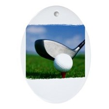 Unique Golf Ornament (Oval)
