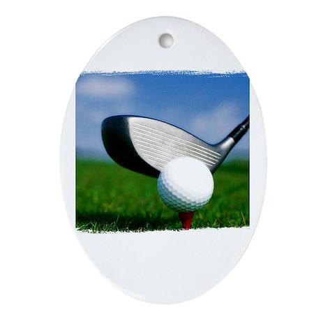 Unique Golf Ornament (Oval)