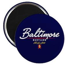 Baltimore Script Magnet