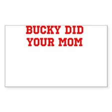 Cute Bucky badger Decal