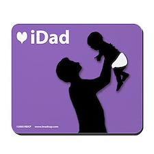 iDad Purple Father & Baby Mousepad