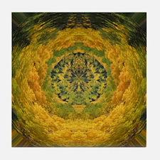 Golden Colors Tile Coaster