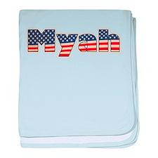 American Myah baby blanket