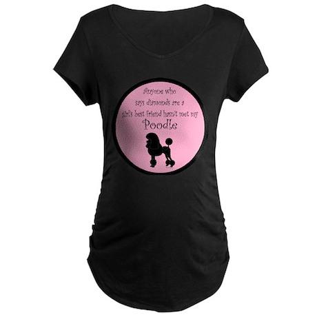 Girls Best Friend Maternity Dark T-Shirt