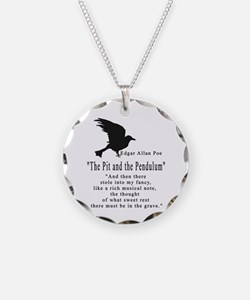 Edgar Allan Poe Necklace Circle Charm