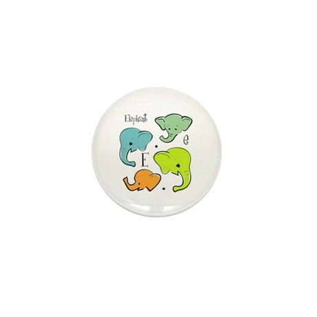 """E is for Elephant"" Mini Button"