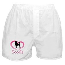 Heart My Poodle Boxer Shorts