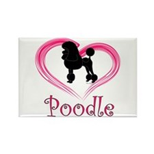 Heart My Poodle Rectangle Magnet