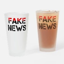 Fake News Drinking Glass