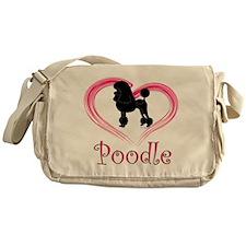 Heart My Poodle Messenger Bag