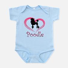 Heart My Poodle Infant Bodysuit