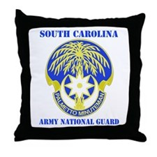 DUI-SOUTH CAROLINA ANG WITH TEXT Throw Pillow