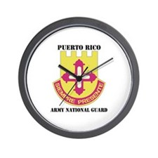 DUI-PUERTO RICO ANG WITH TEXT Wall Clock
