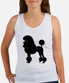 Poodle Silhouette Women's Tank Top