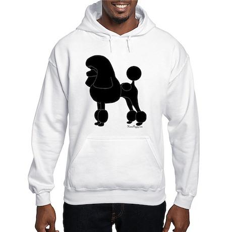 Poodle Silhouette Hooded Sweatshirt
