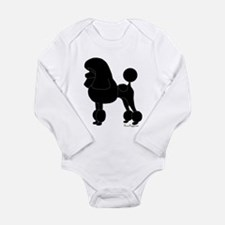 Poodle Silhouette Long Sleeve Infant Bodysuit