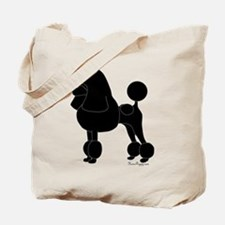 Poodle Silhouette Tote Bag