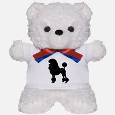 Poodle Silhouette Teddy Bear