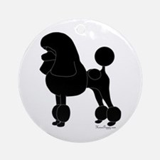 Poodle Silhouette Ornament (Round)