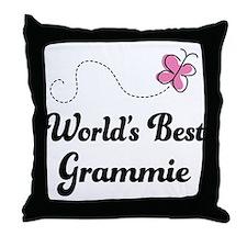 World's Best Grammie Throw Pillow