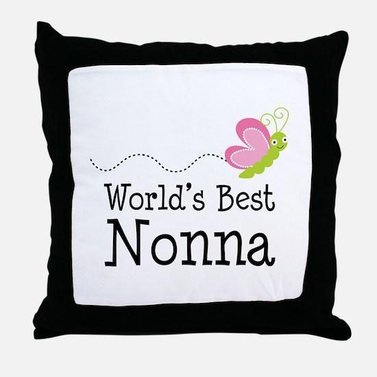World's Best Nonna Throw Pillow