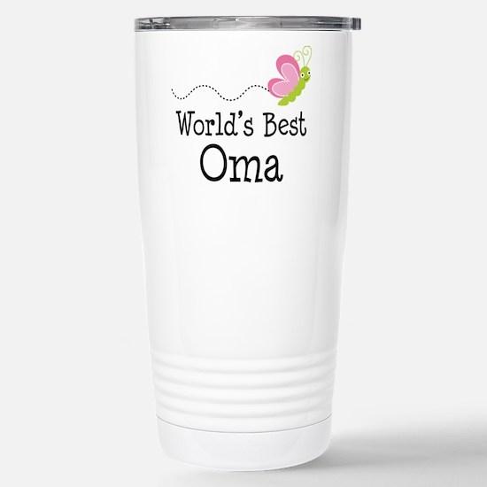 World's Best Oma Stainless Steel Travel Mug