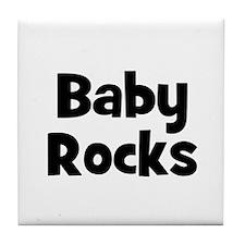 Baby Rocks Tile Coaster