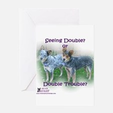 Double Trouble ACDs Greeting Card