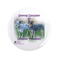 """Double Trouble ACDs 3.5"""" Button"""
