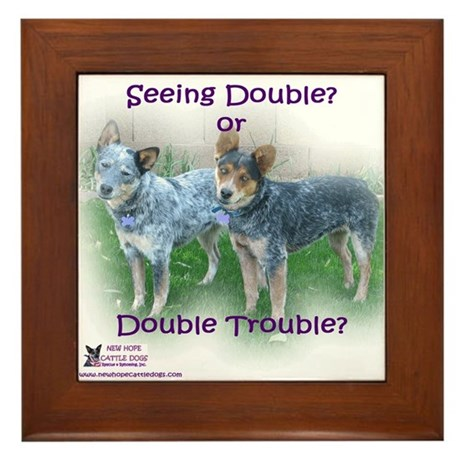Double Trouble ACDs Framed Tile