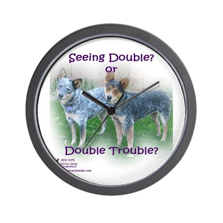 Double Trouble ACDs Wall Clock