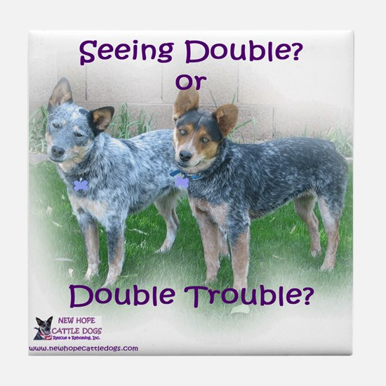 Double Trouble ACDs Tile Coaster