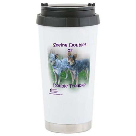 Double Trouble ACDs Stainless Steel Travel Mug