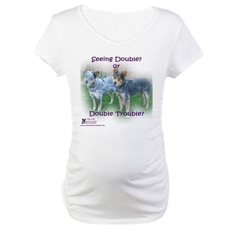 Double Trouble ACDs Maternity T-Shirt