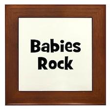 Babies Rock Framed Tile